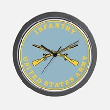 Army-Infantry-Branch-Plaque-Bonnie.gif Wall Clock