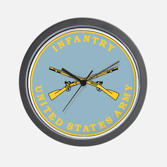 Army-Infantry-Branch-Plaque-Bonnie.gif Wall Clock