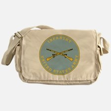 Army-Infantry-Branch-Plaque-Bonnie.g Messenger Bag