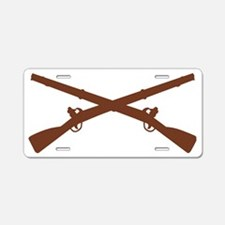 Army-Infantry-Insignia-Brow Aluminum License Plate