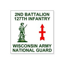 "ARNG-127th-Infantry-Shirt-4 Square Sticker 3"" x 3"""