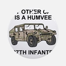 ARNG-127th-Infantry-My-Other-Car.gi Round Ornament