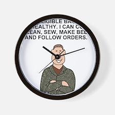 Army-Humor-Eligible-Bachelor.gif Wall Clock