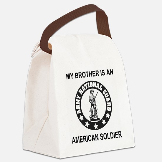 ARNG-My-Brother-Black.gif Canvas Lunch Bag