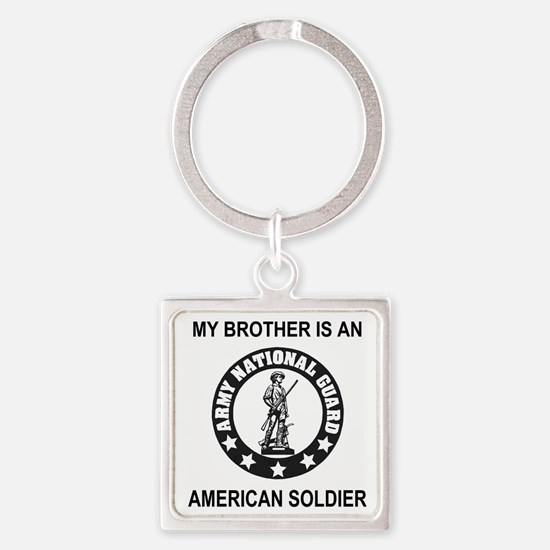ARNG-My-Brother-Black.gif Square Keychain