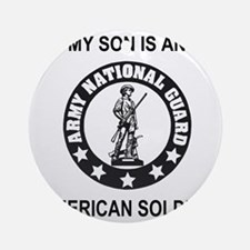 ARNG-My-Son-Black.gif Round Ornament