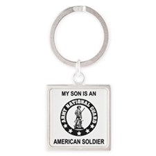 ARNG-My-Son-Black.gif Square Keychain