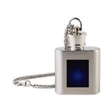 Blue Malaki Flask Necklace