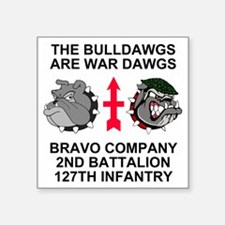 "ARNG-127th-Infantry-B-Co-Sh Square Sticker 3"" x 3"""