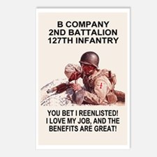 ARNG-127th-Infantry-B-Co- Postcards (Package of 8)