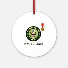 Army-WWII-Shirt-2.gif Round Ornament
