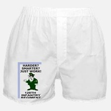 ARNG-128th-Infantry-Just-Work-Poster. Boxer Shorts