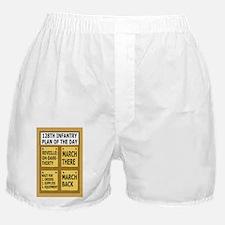 ARNG-128th-Infantry-Plan-Of-Day-Poste Boxer Shorts