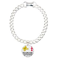 ARNG-128th-Infantry-Welc Charm Bracelet, One Charm