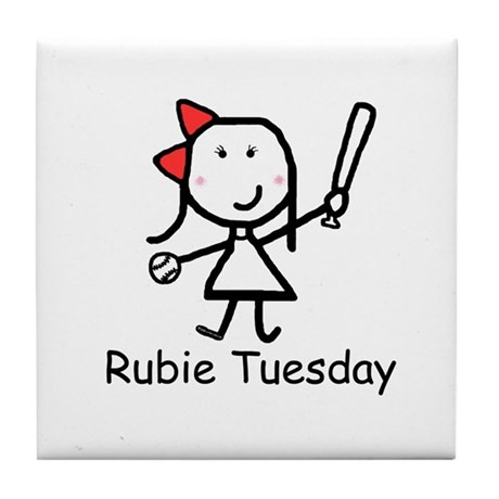 Softball - Rubie Tuesday Tile Coaster