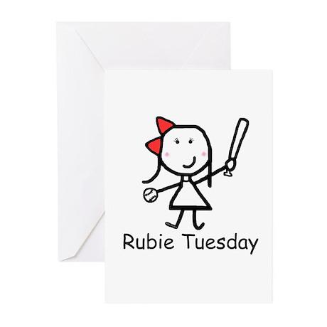 Softball - Rubie Tuesday Greeting Cards (Package o