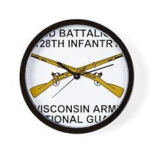 ARNG-128th-Infantry-2nd-Bn-Shirt-5.gif Wall Clock