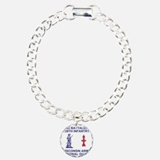 ARNG-128th-Infantry-2nd- Charm Bracelet, One Charm