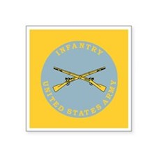 """Army-Infantry-Button.gif Square Sticker 3"""" x 3"""""""