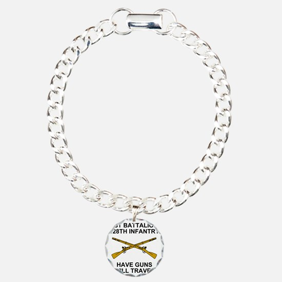 ARNG-128th-Infantry-1st- Charm Bracelet, One Charm