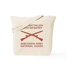 ARNG-128th-Infantry-1st-Bn-Shirt-6-Salmon Tote Bag
