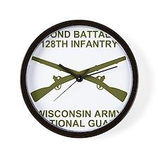 ARNG-128th-Infantry-2nd-Bn-Shirt-6-Avoc Wall Clock
