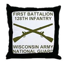 ARNG-128th-Infantry-1st-Bn-Shirt-6-Av Throw Pillow