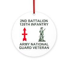 ARNG-128th-Infantry-2nd-Bn-Veteran- Round Ornament