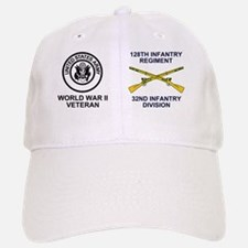 ARNG-128th-Infantry-WWII-Mug.gif Baseball Baseball Cap