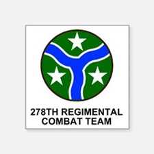 """ARNG-278th-RCT-Shirt.gif Square Sticker 3"""" x 3"""""""