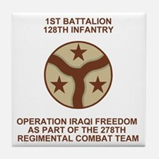 ARNG-128th-Infantry-1st-Bn-Iraq-Shirt Tile Coaster