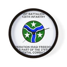 ARNG-128th-Infantry-1st-Bn-Iraq-Shirt.g Wall Clock
