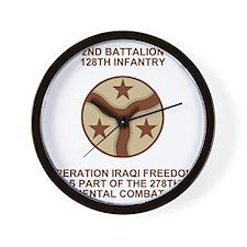 ARNG-128th-Infantry-2nd-Bn-Iraq-Shirt-S Wall Clock