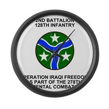 ARNG-128th-Infantry-2nd-Bn-Iraq-S Large Wall Clock