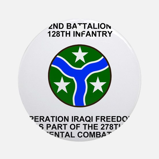 ARNG-128th-Infantry-2nd-Bn-Iraq-Shi Round Ornament