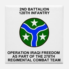 ARNG-128th-Infantry-2nd-Bn-Iraq-Shirt Tile Coaster