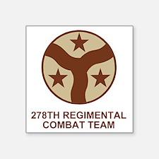 "ARNG-278th-RCT-Shirt-Subdue Square Sticker 3"" x 3"""