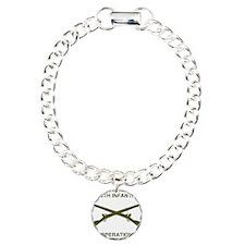 ARNG-128th-Infantry-1st- Charm Bracelet, One Charm