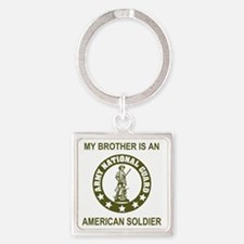 ARNG-My-Brother-Avocado.gif Square Keychain