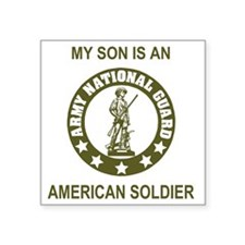 "ARNG-My-Son-Avocado.gif Square Sticker 3"" x 3"""