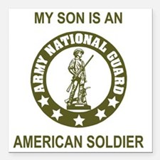 "ARNG-My-Son-Avocado.gif Square Car Magnet 3"" x 3"""