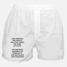 ARNG-128th-Infantry-2nd-Bn-D-Co-Greet Boxer Shorts