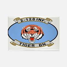 ARNG-128th-Infantry-2nd-Bn-Tiger- Rectangle Magnet