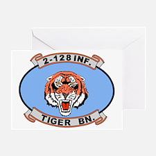 ARNG-128th-Infantry-2nd-Bn-Tiger-Bn- Greeting Card