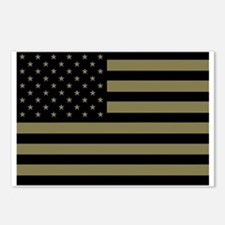 American-Flag-Subdued.gif Postcards (Package of 8)
