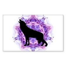 Wolf Rectangle Decal