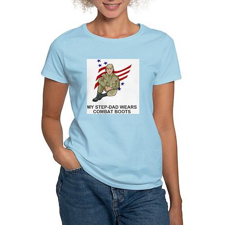 Combat-Boots-My-Stepdad.gif Women's Light T-Shirt