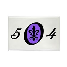 Fleur 504, purple Rectangle Magnet
