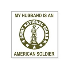 "ARNG-My-Husband-Avocado.gif Square Sticker 3"" x 3"""
