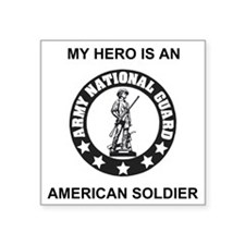 "ARNG-My-Hero.gif Square Sticker 3"" x 3"""